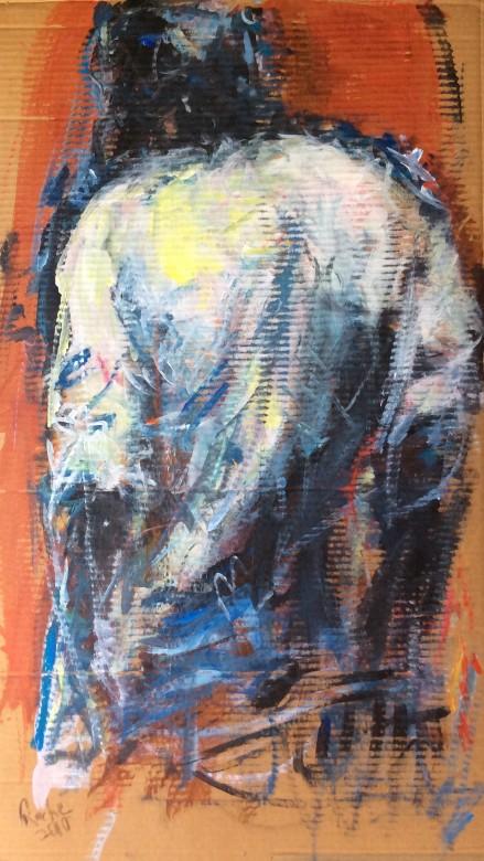 812/ Acryl auf Karton, 100 x 57 cm, 2010