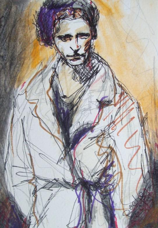 07, bonnie (bonnie & clyde), mischtechnik auf papier, 13 x 17 cm, 2013