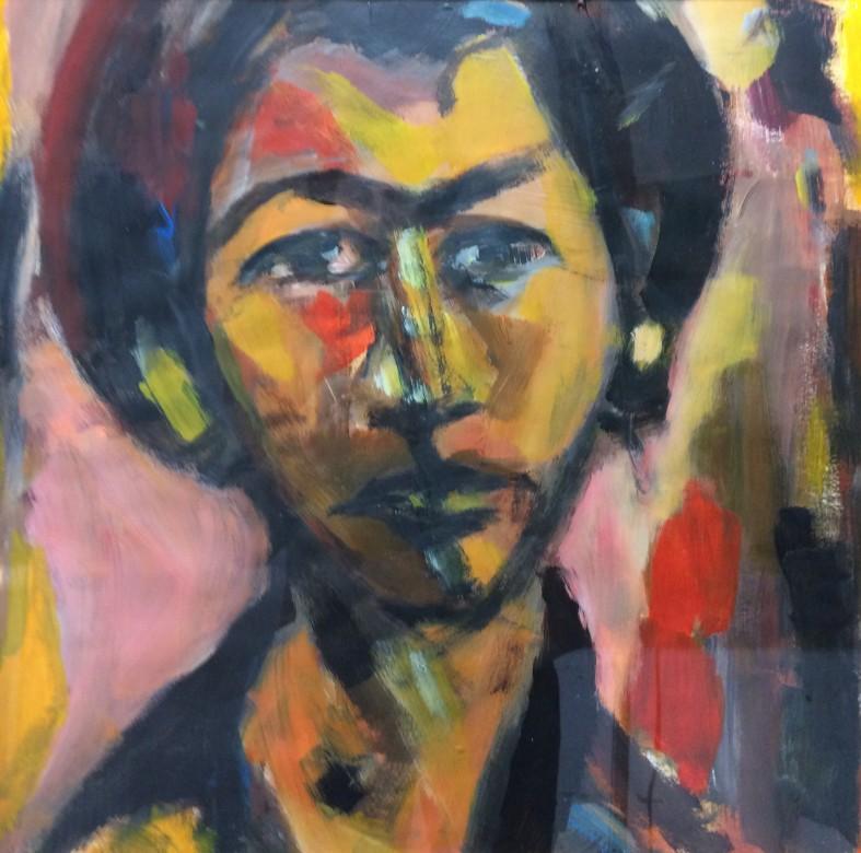 02, zigeunerjunge, acryl auf papier, 44 x 44 cm, 2014