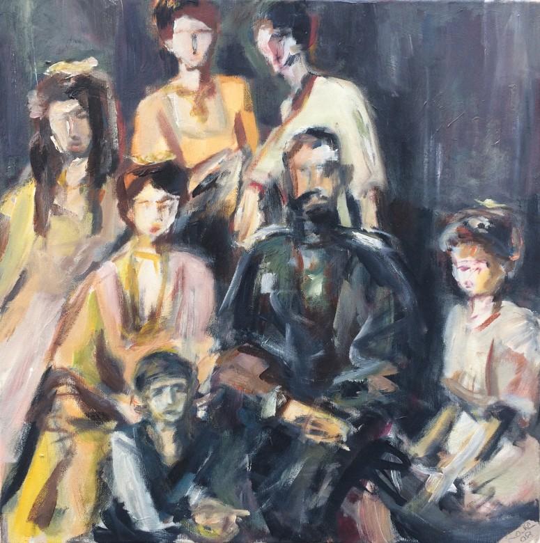 7/ Die Zarenfamilie, Acryl auf Leinwand, 50 x 50 cm, 2008