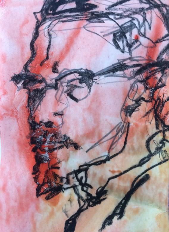 07 / Meryl Streep, Öl auf Holz, 55 x 66 cm, 2020