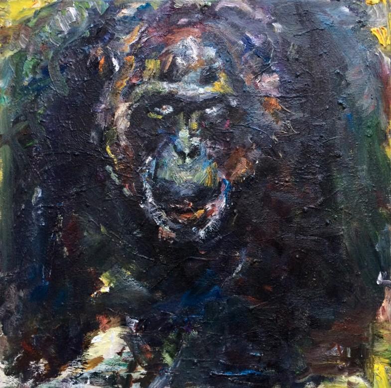 09, Lofty, Öl auf Leinwand, 60 x 60 cm, 2020