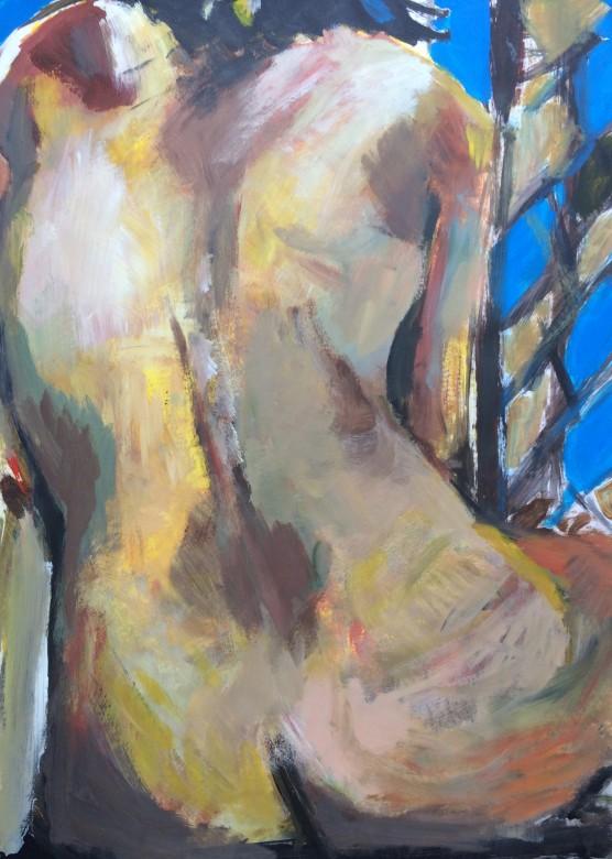09/  Frauenakt, Acryl auf Papier, 65 x 50 cm, 2000