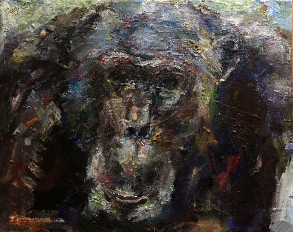 06, Ellington, Öl auf Leinwand, 40 x 50 cm, 2020