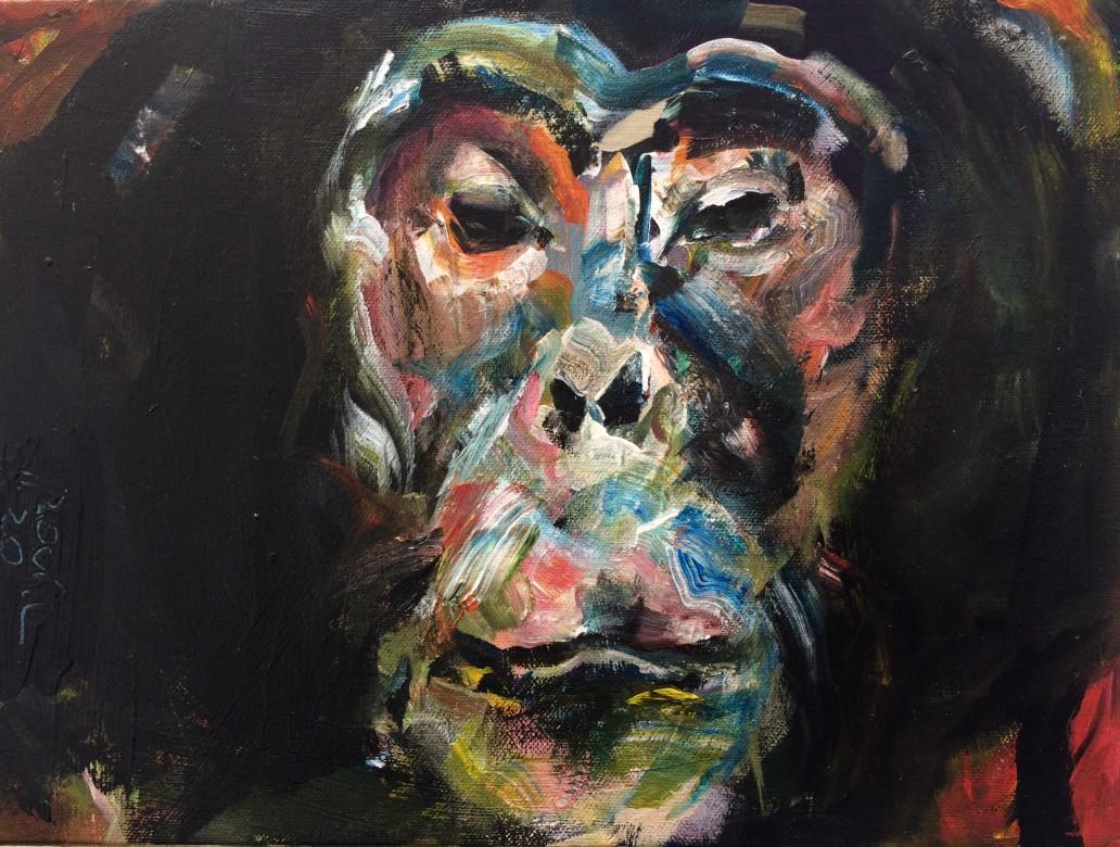 04, Grappelli, Acryl auf Leinwand, 30 x 40 cm, 2020