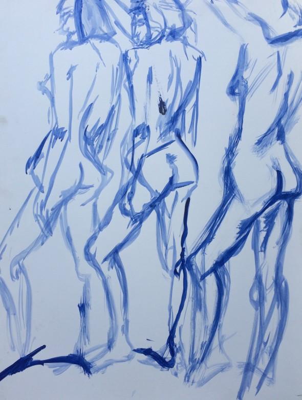 07/ Frauenakt, Acryl auf Papier, 65 x 50 cm, 2001