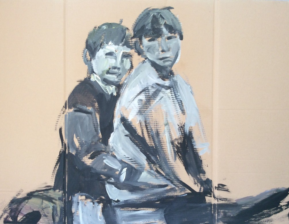 109/ Acryl auf Karton, 125 x 97 cm, 2005