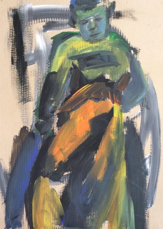 208/ Acryl auf Karton, 60 x 80 cm, 2004