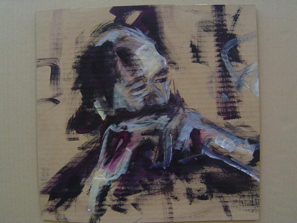 04 / Arvo Pärt, Acryl auf Karton