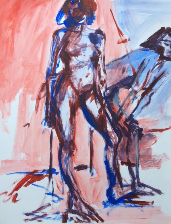 10/ Frauenakt, Acryl auf Papier, 65 x 50 cm, 2000