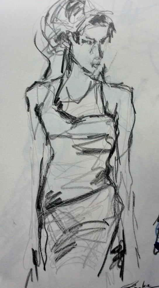 707/ Bleistift auf Papier, 15 x 30 cm, 2018
