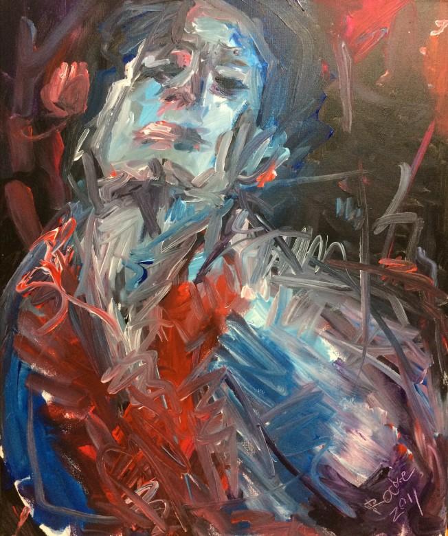 813/ Acryl auf Leinwand, 30 x 24 cm, 2010