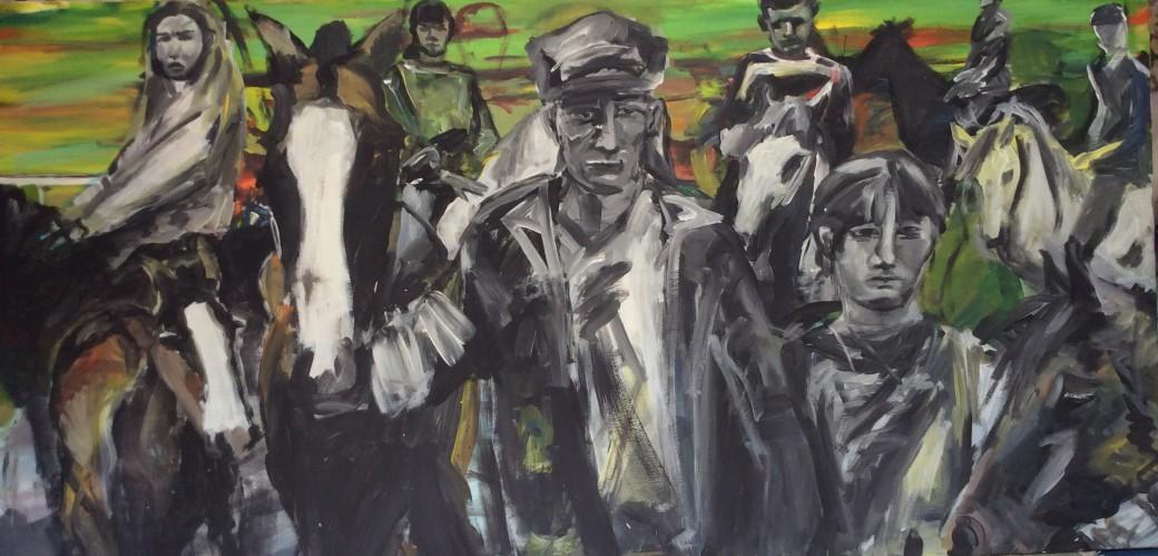102/ Acryl auf Leinwand, 100 x 200 cm, 2005