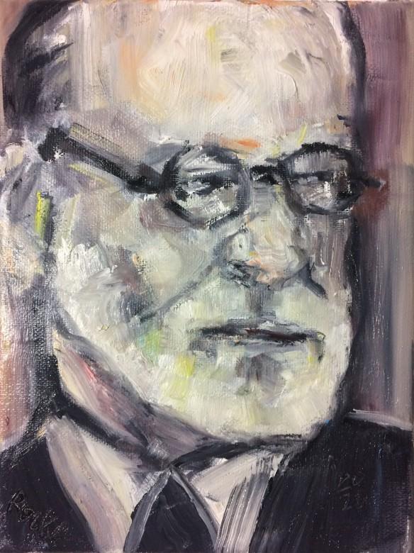 16 / Sigmund Freud, Öl auf Leinwand, 24 x 30 cm, 2020