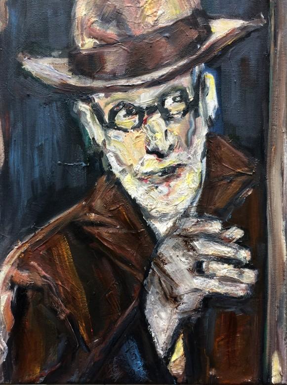 08 /Siegmund Freud, Öl auf Leinwand, 40 x 30 cm, 2020