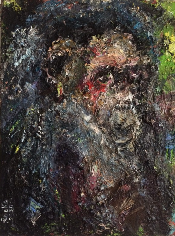 07, Mweya, Öl auf Leinwand, 30 x 40 cm, 2020