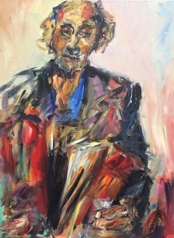20, zigeuner, acryl auf leinwand, 60 x 80 cm, 2013