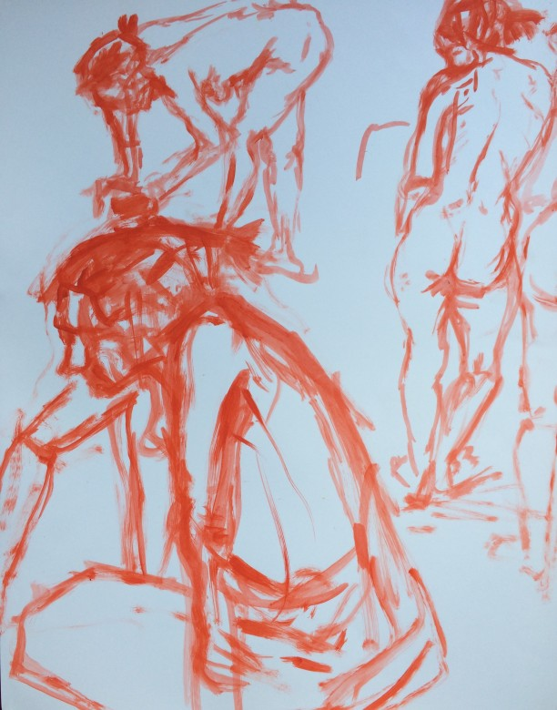 14/ Frauenakt, Acryl auf Papier, 65 x 50 cm, 2001