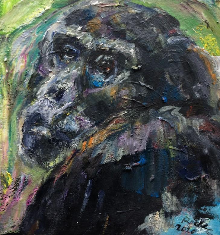 02, Hare, Öl auf Leinwand, 25 x 25 cm, 2020