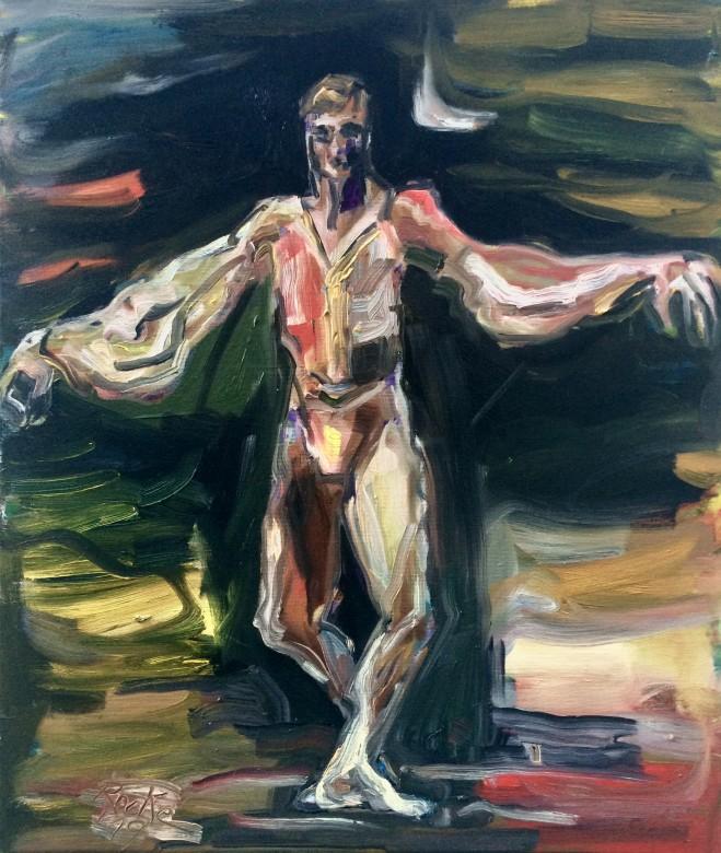 01/ Nureyev, Öl auf Leinwand, 60 x 70 cm, 2019