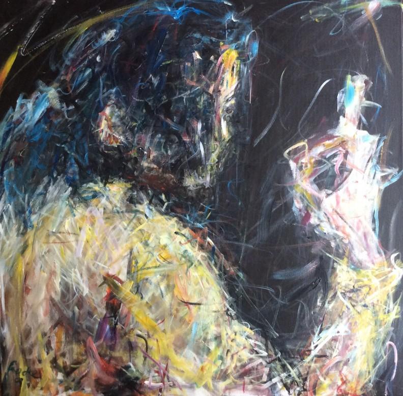 801/ Acryl auf Leinwand, 80 x 80 cm, 2009