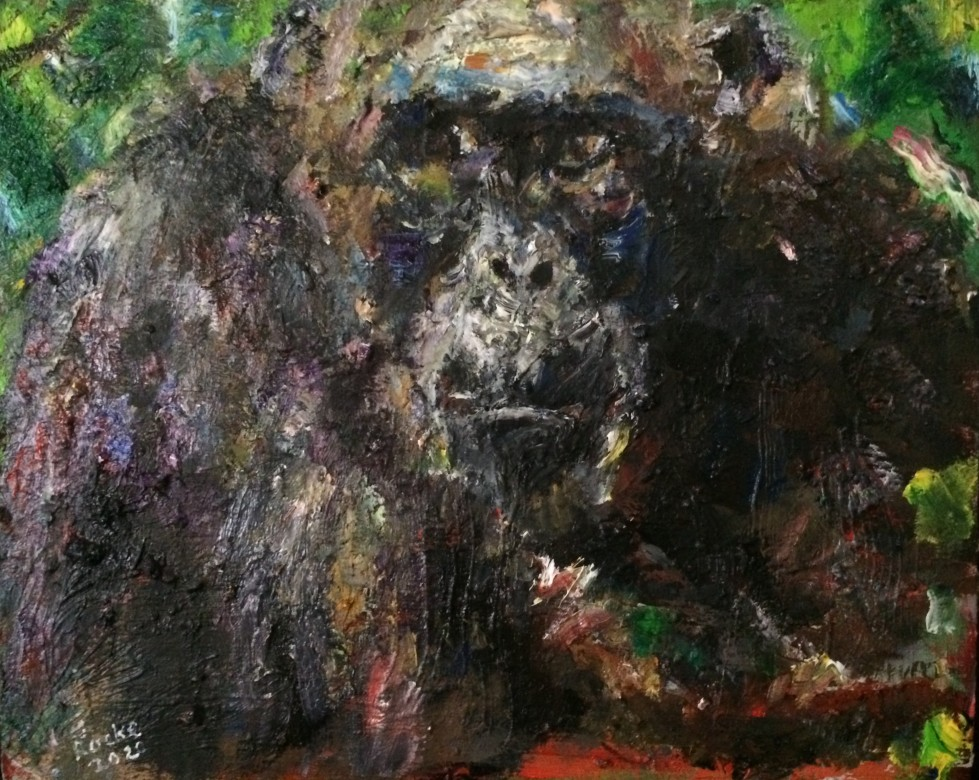 08, Lofty, Öl auf Leinwand, 50 x 40 cm, 2020