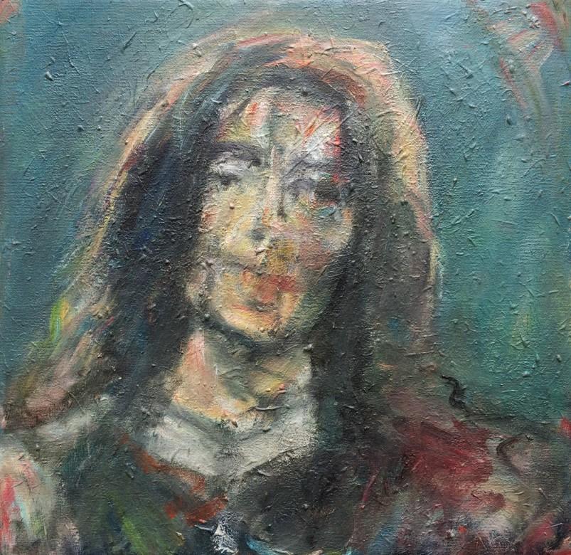 816/ Acryl auf Malpappe, 40 x 40 cm, 2009