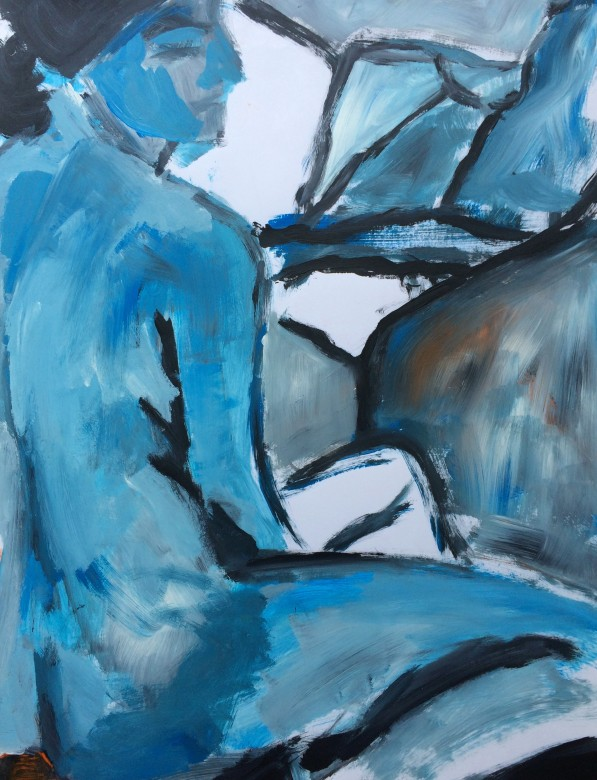 11/ Frauenakt, Acryl auf Papier, 65 x 50 cm, 2000