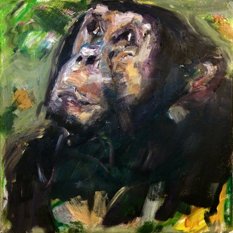 01, Grappelli, Öl auf Leinwand, 40 x 40 cm, 2020