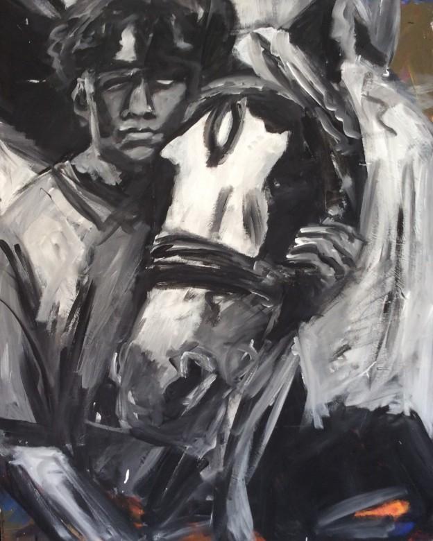 101/ Acryl auf Leinwand, 100 x 8 cm, 2005