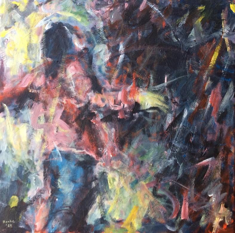 811/ Acryl auf Leinwand, 40 x 40 cm, 2009