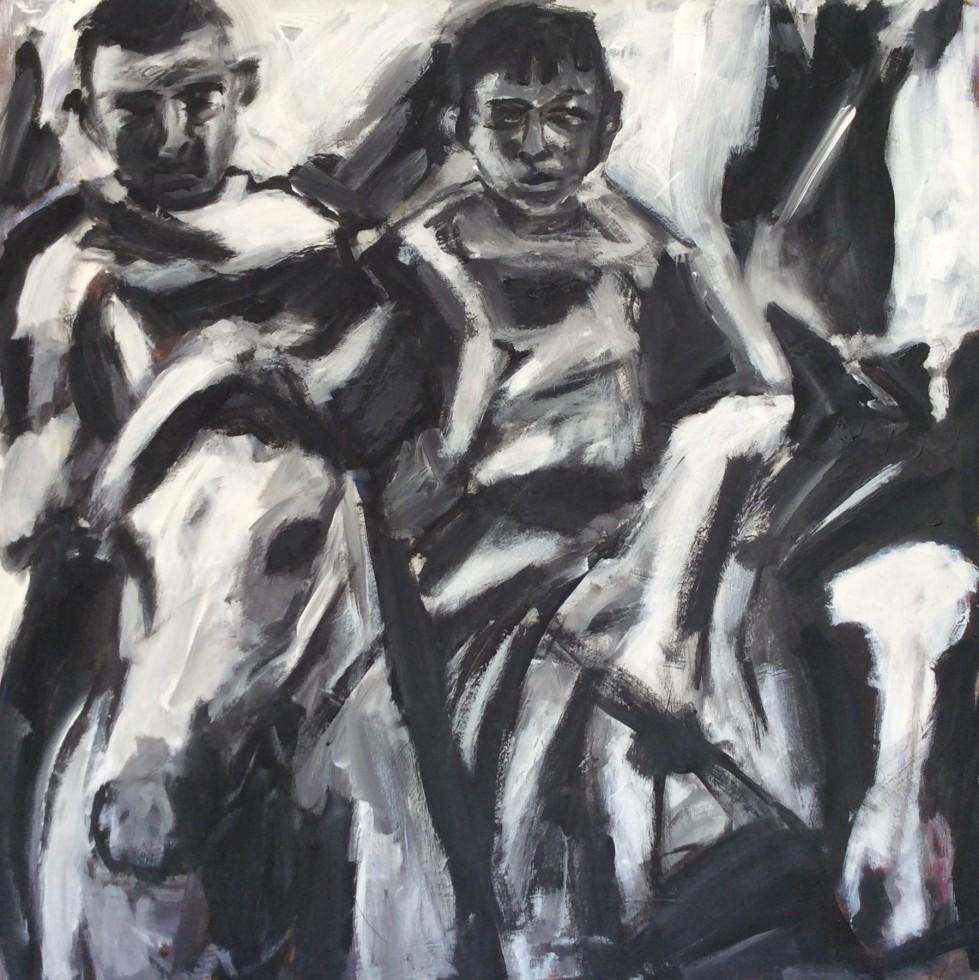 100/ Acryl auf Leinwand, 100 x 100 cm, 2005
