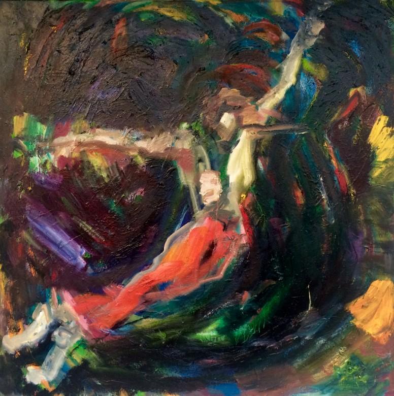 02/ Nureyev, Öl auf Leinwand, 100 x 100 cm, 2019