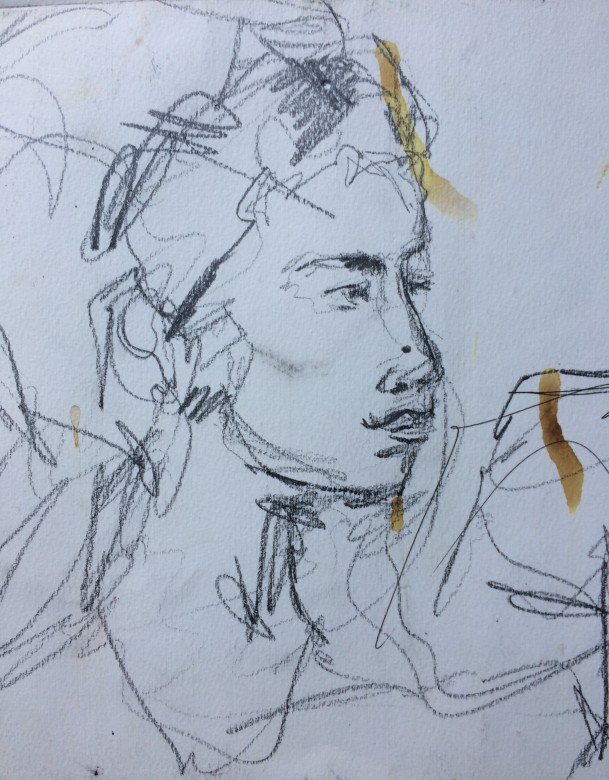 710/ Bleistift auf Papier, 40 x 24 cm, 2018