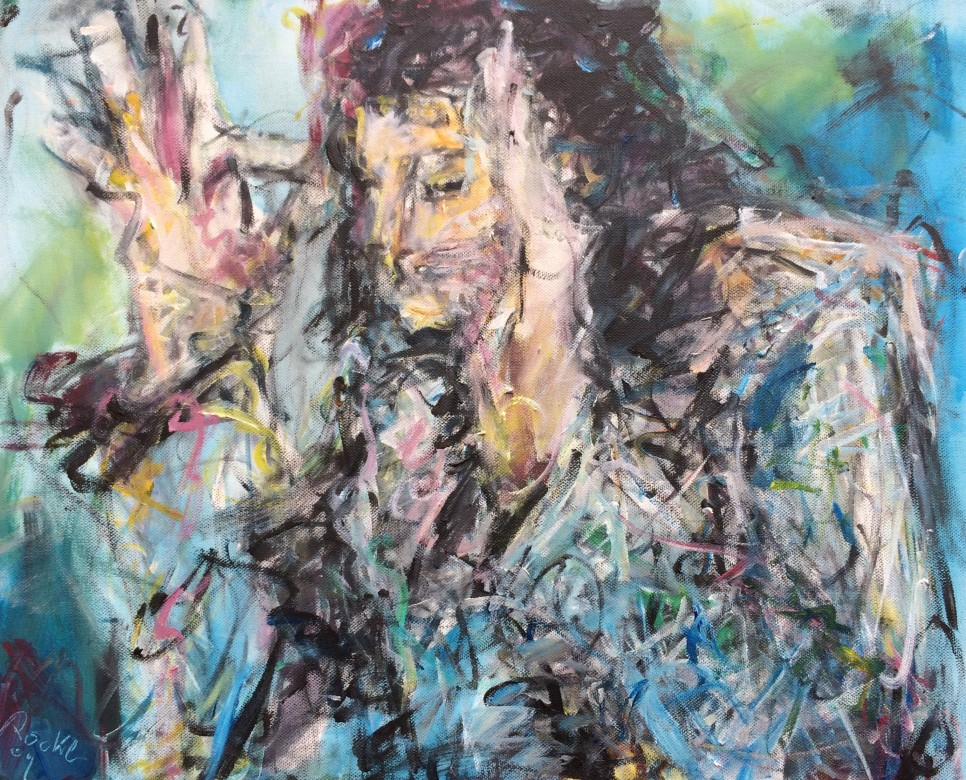 820/ Acryl auf Leinwand, 40 x 50 cm, 2009