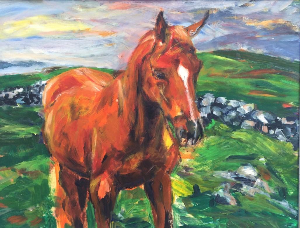 916/ Irland, Acryl auf Malpappe, 64 x 50 cm, 2002