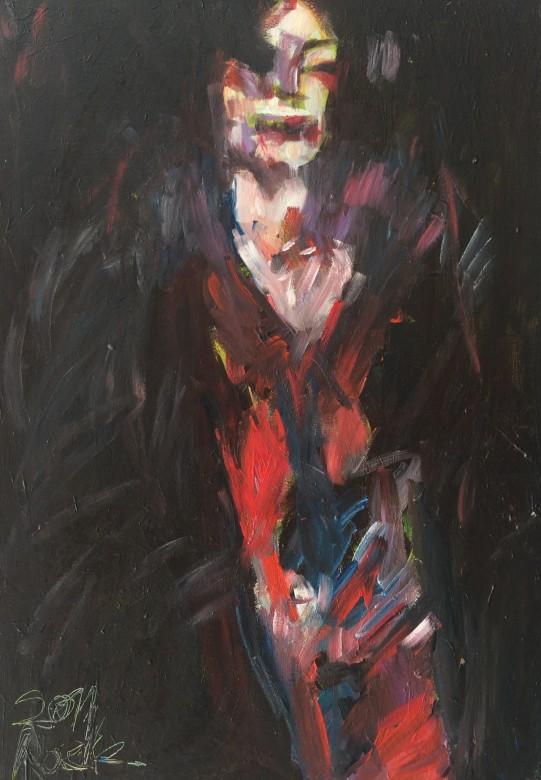 818/ Acryl auf Leinwand, 70 x 100, 2010