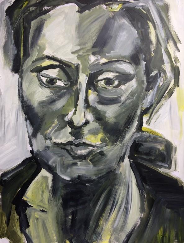 15, jaqueline, acryl auf papier, 65 x 50 cm, 2002