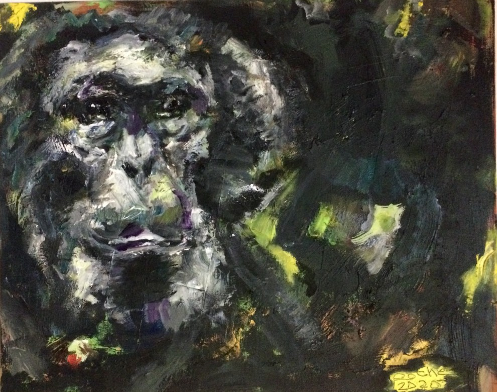 03, Bartog, Öl auf Lenwand, 40 x 50 cm, 2020
