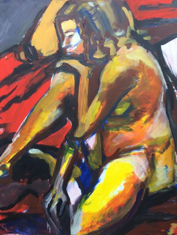05/ Frauenakt, Acryl auf Papier, 65 x 50 cm, 2001