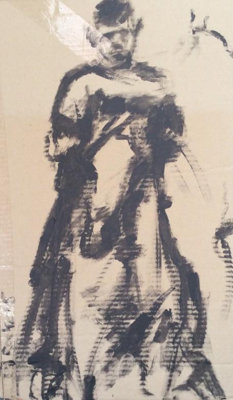 103/ Acryl auf Karton, 40 x 68 cm, 2005