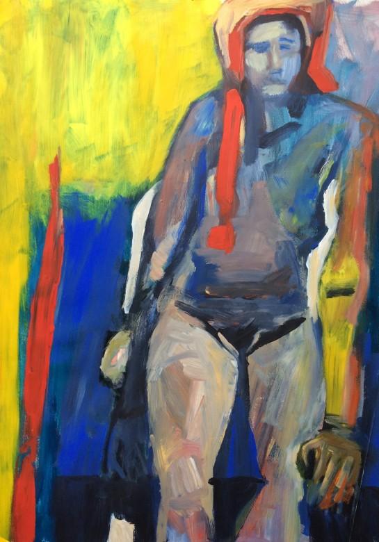 06/ Frauenakt, Acryl auf Papier, 65 x 50 cm, 2001