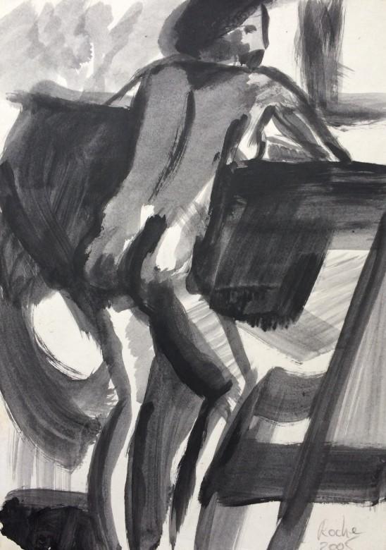 04/ Frauenakt, Acryl auf Papier, 25 x 34,5 cm, 2005